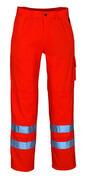 00479-860-14 Spodnie z kieszeniami na kolanach - pomarańcz hi-vis