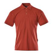 00783-260-02 Koszulka Polo z kieszenią na piersi - czerwień