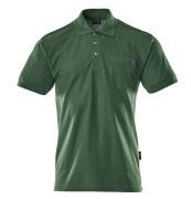 00783-260-03 Koszulka Polo z kieszenią na piersi - zieleń