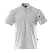00783-260-08 Koszulka Polo z kieszenią na piersi - szary nakrapiany