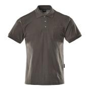 00783-260-18 Koszulka Polo z kieszenią na piersi - ciemny antracyt