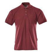 00783-260-22 Koszulka Polo z kieszenią na piersi - bordowy