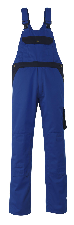 00969-430-1101 Ogrodniczki z kieszeniami na kolanach - niebieski/granat