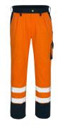 00979-860-141 Spodnie z kieszeniami na kolanach - pomarańcz hi-vis/granat