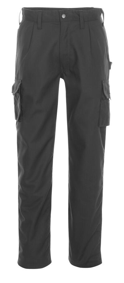 03079-010-09 Spodnie z kieszeniami na udach - czerń