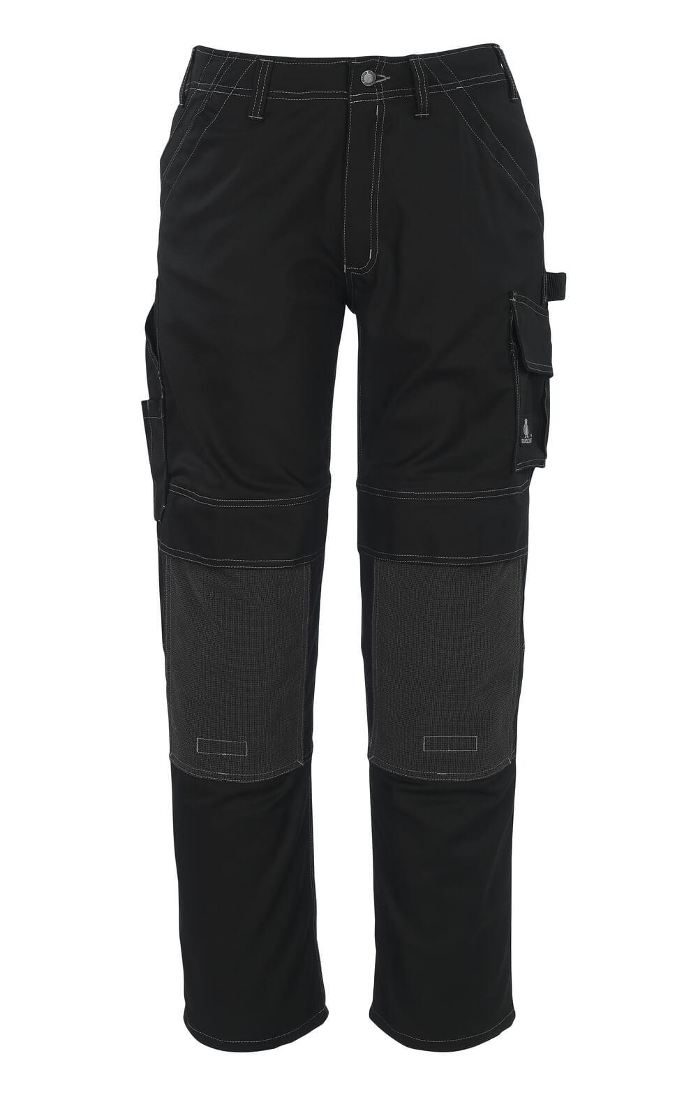05079-010-09 Spodnie z kieszeniami na kolanach - czerń