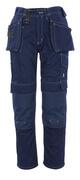 06131-630-01 Spodnie z kieszeniami na kolanach i kieszeniami wiszącymi - granat