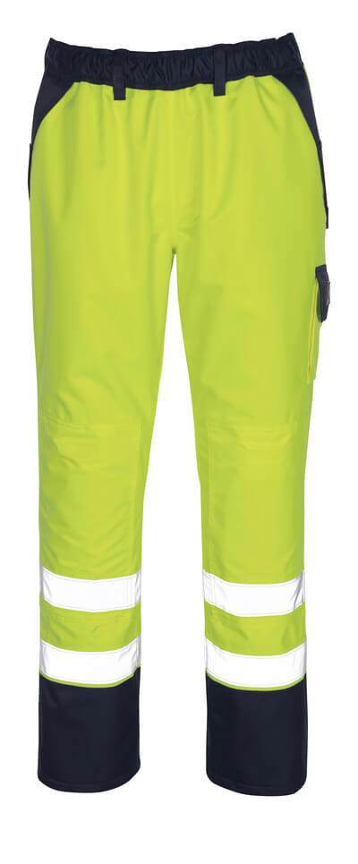 07090-880-141 Spodnie zewnętrzne naciągane z kieszeniami na kolanach - pomarańcz hi-vis/granat