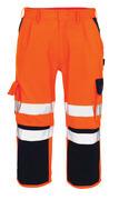 07149-860-141 Spodenki ¾ z kieszeniami na kolanach - pomarańcz hi-vis/granat