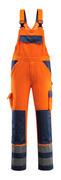 07169-860-141 Ogrodniczki z kieszeniami na kolanach - pomarańcz hi-vis/granat