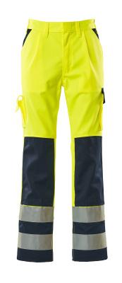 07179-470-171 Spodnie z kieszeniami na kolanach - żółty hi-vis/granat