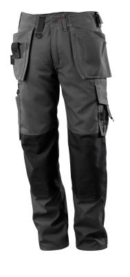 07379-154-09 Spodnie z kieszeniami na kolanach i kieszeniami wiszącymi - czerń