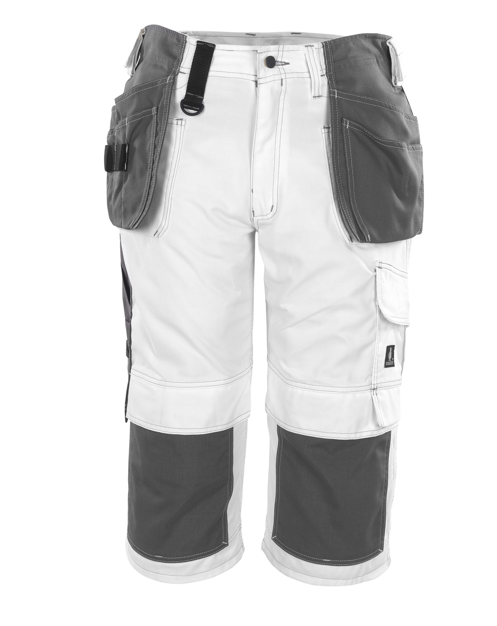 08349-154-06 Spodenki ¾ z kieszeniami na kolanach i kieszeniami wiszącymi - biel