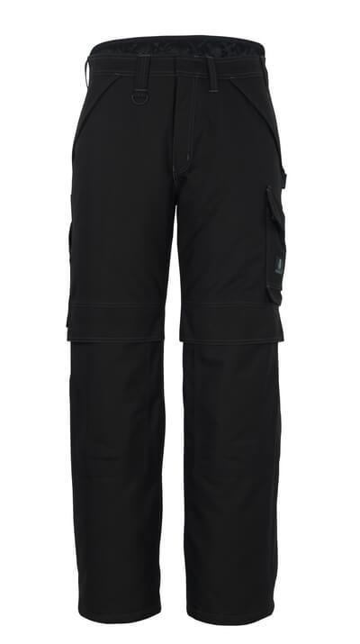 10090-194-09 Spodnie Zimowe z kieszeniami na kolanach - czerń