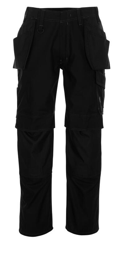 10131-154-010 Spodnie z kieszeniami na kolanach i kieszeniami wiszącymi - ciemny granat