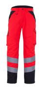 11090-025-A49 Spodnie Zimowe - czerwień hi-vis/ciemny antracyt