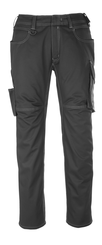 12079-203-0918 Spodnie z kieszeniami na udach - czerń/ciemny antracyt