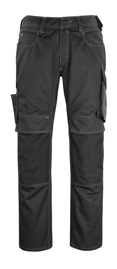 12179-203-0918 Spodnie z kieszeniami na kolanach - czerń/ciemny antracyt