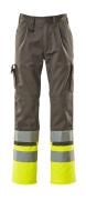 12379-430-88817 Spodnie z kieszeniami na kolanach - antracyt/żółty hi-vis