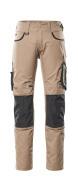 13079-230-1809 Spodnie z kieszeniami na kolanach - ciemny antracyt/czerń