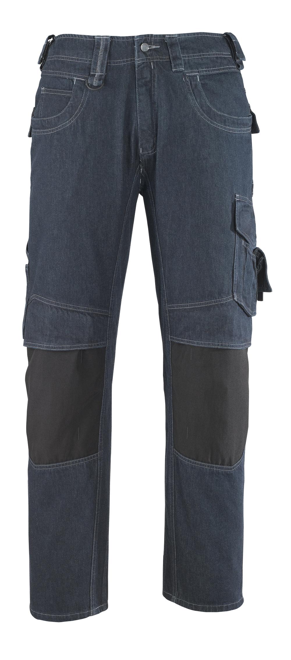 13279-207-B52 Dżinsy z kieszeniami na kolanach - ciemnoniebieski