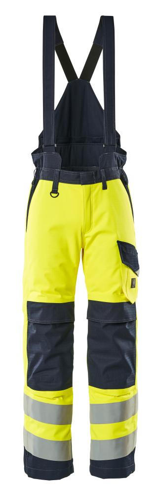 13892-217-17010 Spodnie Zimowe - żółty hi-vis/ciemny granat