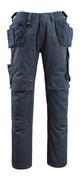 14131-203-010 Spodnie z kieszeniami na kolanach i kieszeniami wiszącymi - ciemny granat