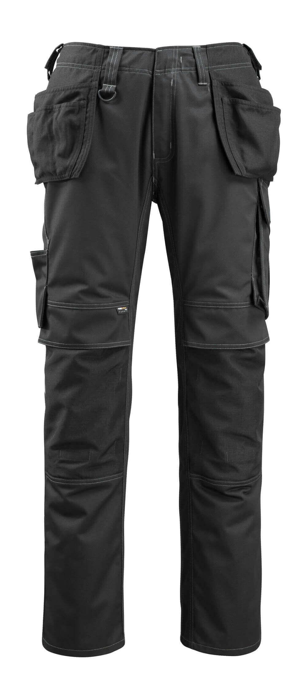14131-203-09 Spodnie z kieszeniami wiszącymi - czerń