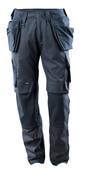 15031-010-010 Spodnie z kieszeniami na kolanach i kieszeniami wiszącymi - ciemny granat