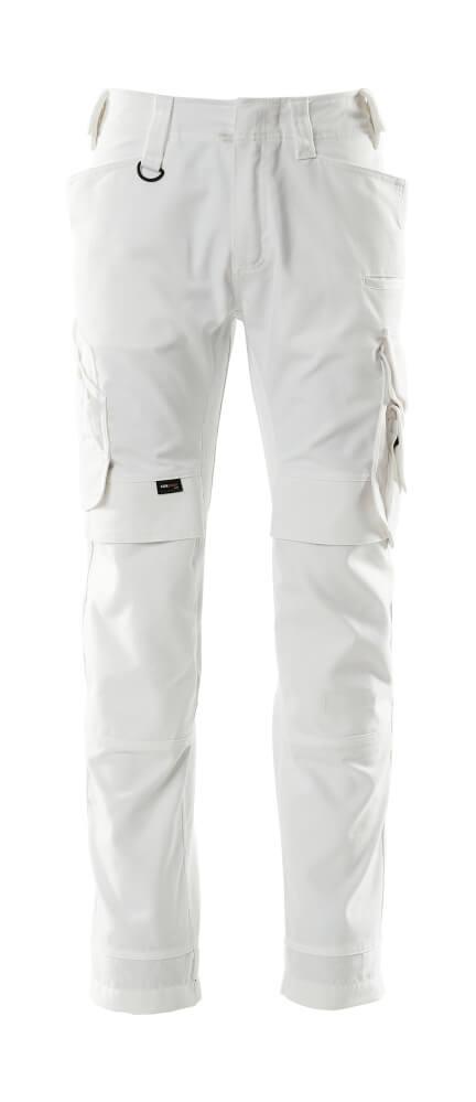 15079-010-06 Spodnie z kieszeniami na kolanach - biel