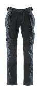 15131-207-86 Dżinsy z kieszeniami na kolanach i kieszeniami wiszącymi - ciemno niebieski denim