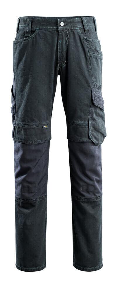 15179-207-86 Dżinsy z kieszeniami na kolanach - ciemno niebieski denim