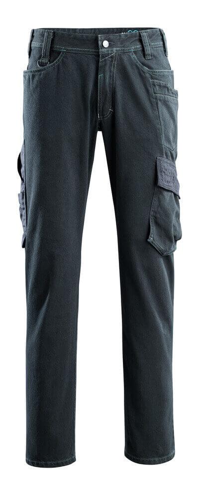 15279-207-86 Dżinsy z kieszeniami na udach - ciemno niebieski denim