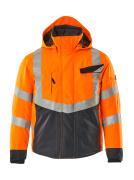 15535-231-14010 Kurtka Zimowe - pomarańcz hi-vis/ciemny granat