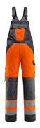 15969-948-1418 Ogrodniczki z kieszeniami na kolanach - pomarańcz hi-vis/ciemny antracyt