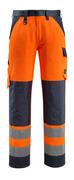 15979-948-17010 Spodnie z kieszeniami na kolanach - żółty hi-vis/ciemny granat