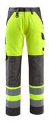15979-948-1418 Spodnie z kieszeniami na kolanach - pomarańcz hi-vis/ciemny antracyt