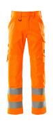 16879-860-14 Spodnie z kieszeniami na kolanach - pomarańcz hi-vis