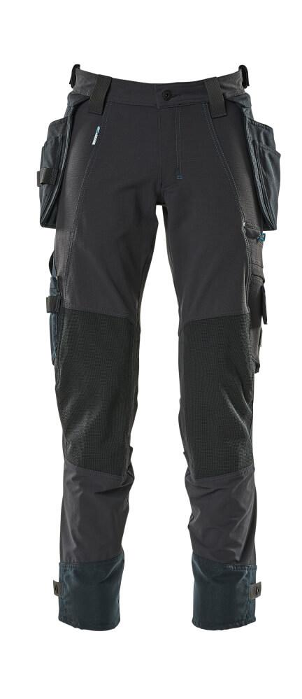 17031-311-010 Spodnie z kieszeniami wiszącymi - ciemny granat