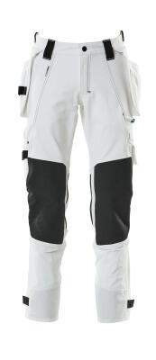 17031-311-010 Spodnie z kieszeniami na kolanach i kieszeniami wiszącymi - ciemny granat
