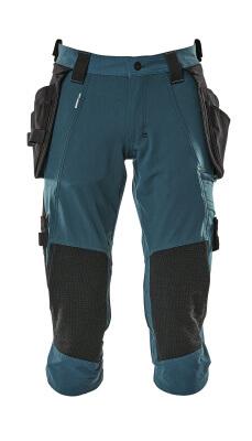 17049-311-010 Spodenki ¾ z kieszeniami na kolanach i kieszeniami wiszącymi - ciemny granat