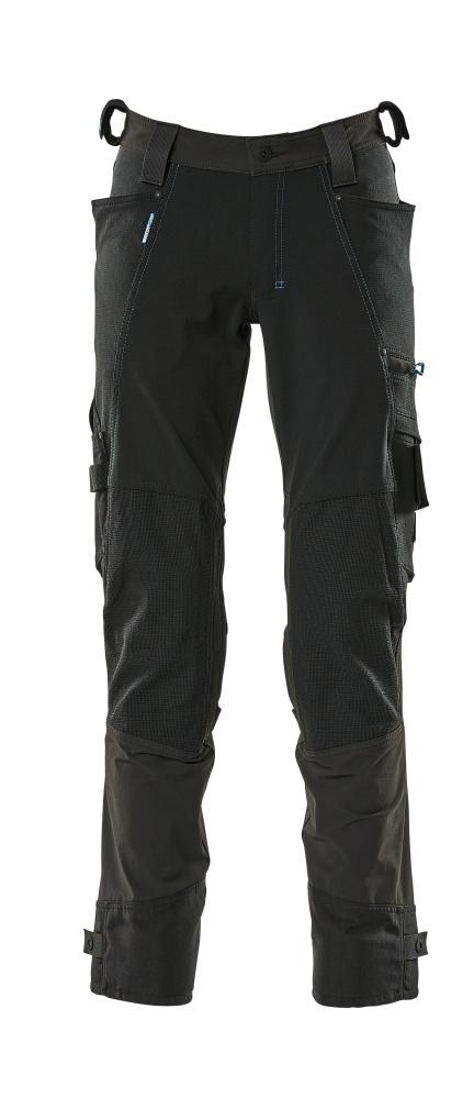 17079-311-09 Spodnie z kieszeniami na kolanach - czerń