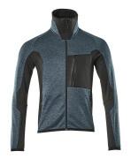 17103-316-4409 Bluza polarowa z zamkiem błyskawicznym - ciemna petrolowy/czerń