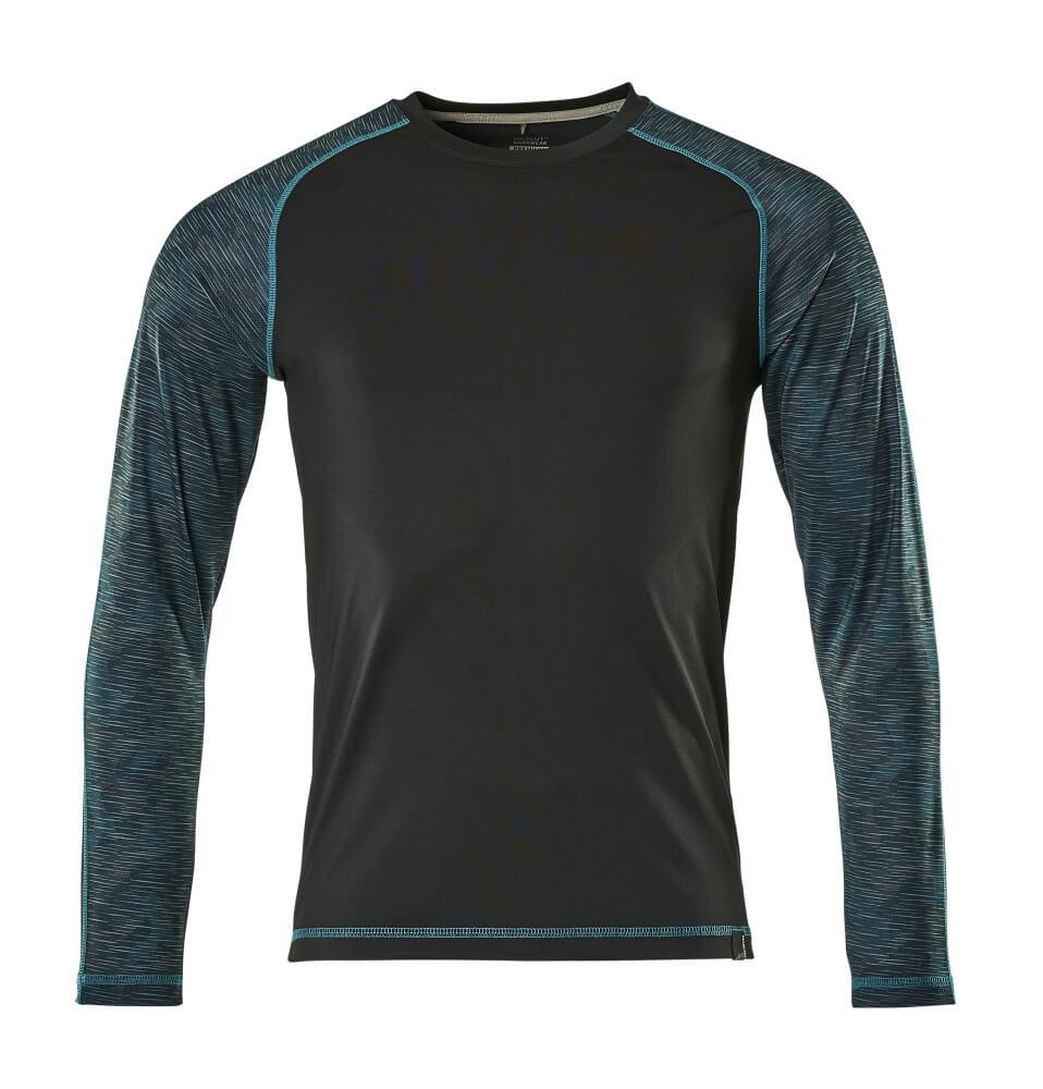 17281-944-09 T-Shirt z długimi rękawami - czerń