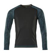 17281-944-09 T-Shirt, długimi rękawami - czerń