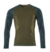 17281-944-33 T-Shirt z długimi rękawami - zielony mech
