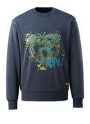 17284-280-66 Sweter - sprany ciemno niebieski denim