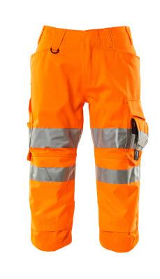 17549-860-14 Spodenki ¾ z kieszeniami na kolanach - pomarańcz hi-vis
