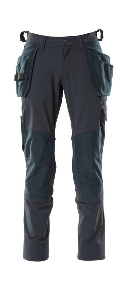 18031-311-010 Spodnie z kieszeniami wiszącymi - ciemny granat
