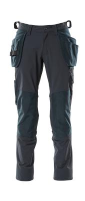 18031-311-010 Spodnie z kieszeniami na kolanach i kieszeniami wiszącymi - ciemny granat